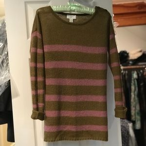 Brown and pink striped sweater